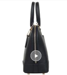 蔻驰 COACH 奢侈品女士中号贝壳包手提肩背斜挎黑色皮质